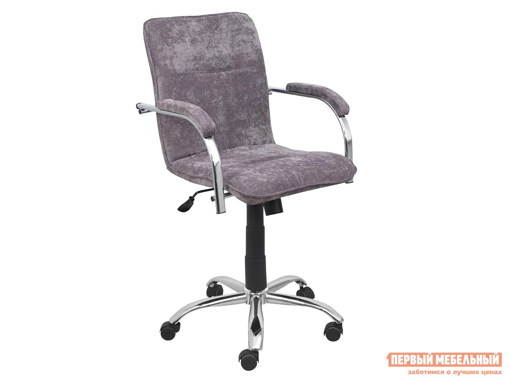 Офисное кресло  SAMBA AKS-2 Серый, велюр, Мягкие Базистрейд 137643