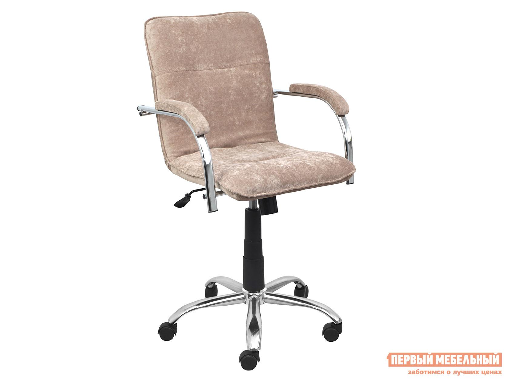 Офисное кресло  SAMBA AKS-2 Бежевый, велюр, Мягкие Базистрейд 137639
