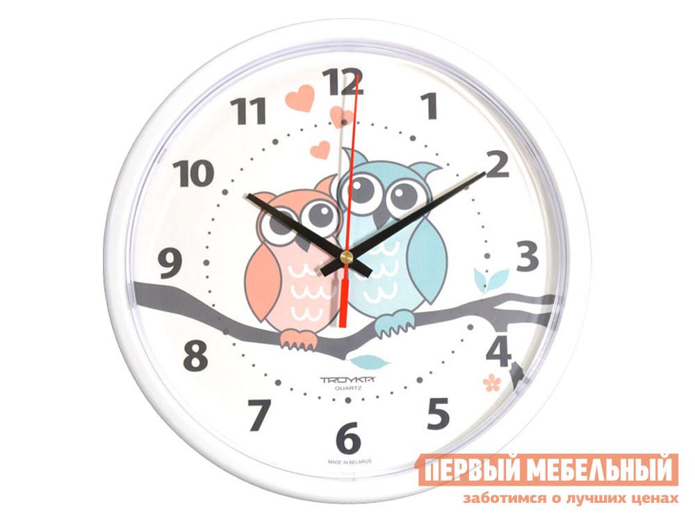 Часы  наст.Тройка 91910931 Белый, пластик ГК ЧАСПРОМ ООО 136309