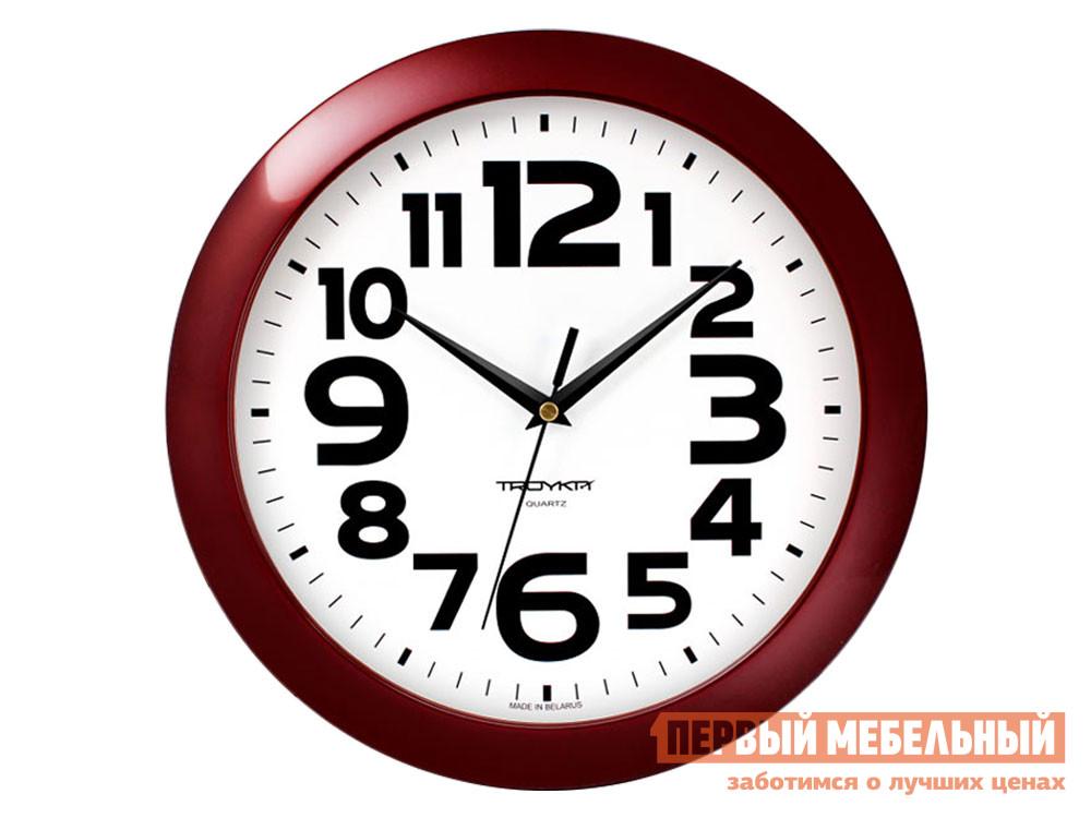 Часы  наст.Тройка 11131119 Бордовый, пластик ГК ЧАСПРОМ ООО 136359