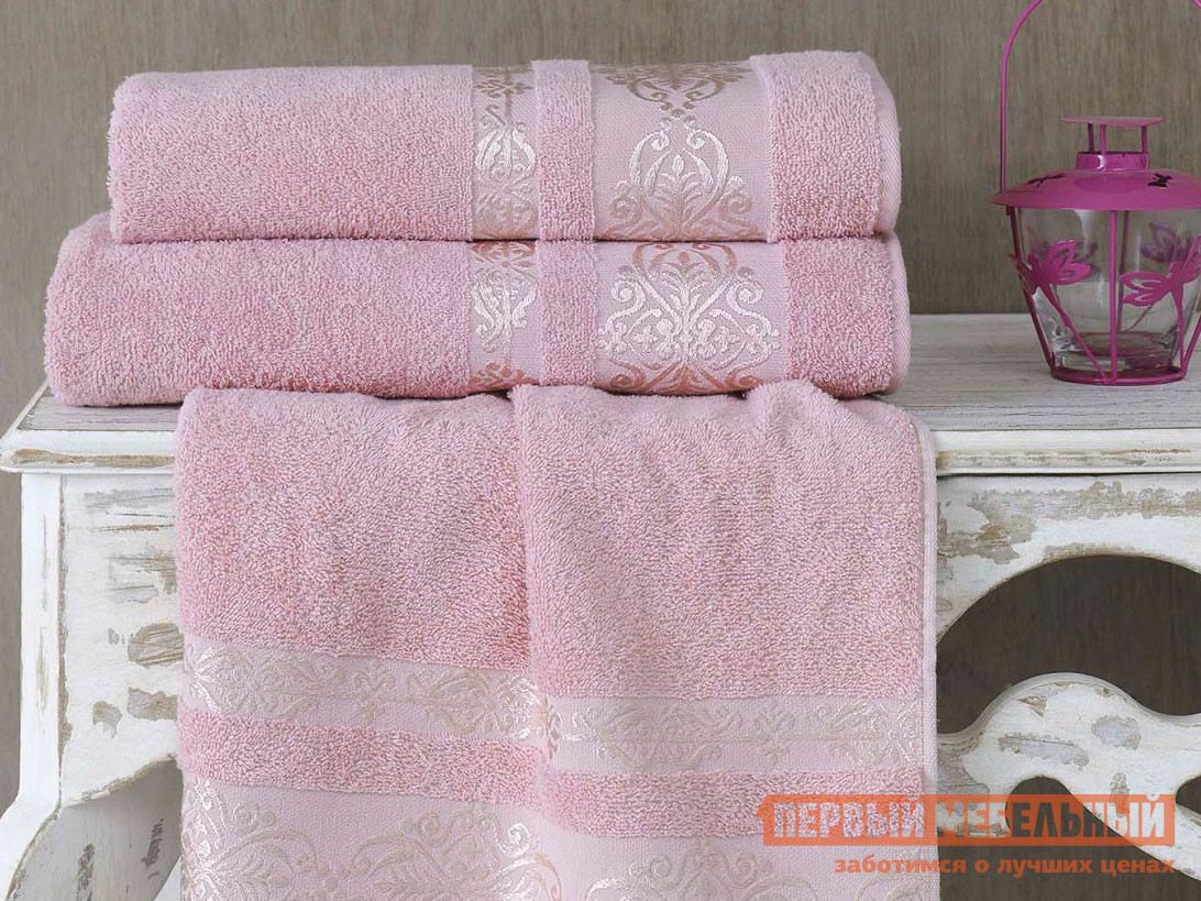 Полотенце  махровое KARNA REBEKA 70x140 см Грязно-розовый, хлопок 99514