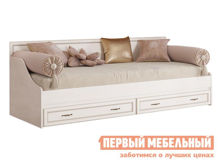 Тахта  Сиена Бодега белый, патина золото КУРАЖ 86284