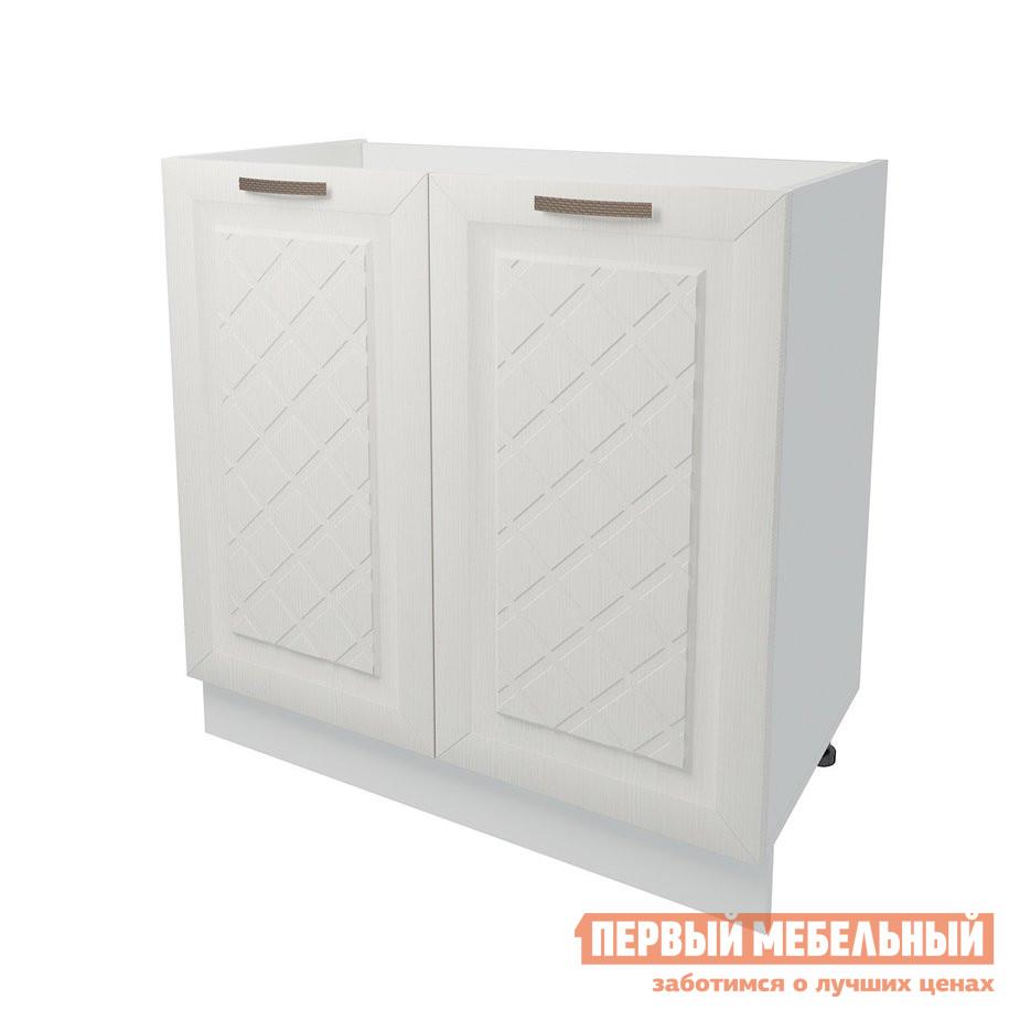 Кухонный модуль Первый Мебельный Стол под накладную мойку 2 двери 80 см Агава