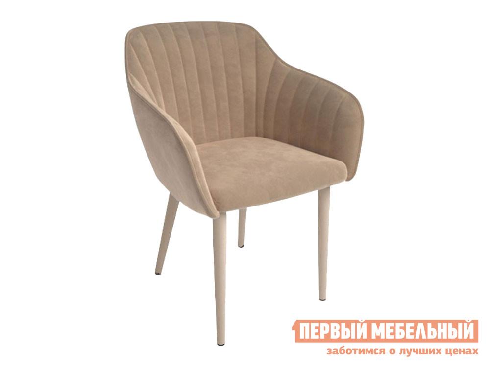 Стул  Шандон Бежевый нюд, велюр / Серо-бежевый, металл Мебвилл 122941