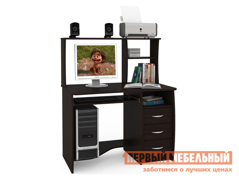 Компьютерный стол с надстройкой и ящиками Первый Мебельный Комфорт 4 СКР