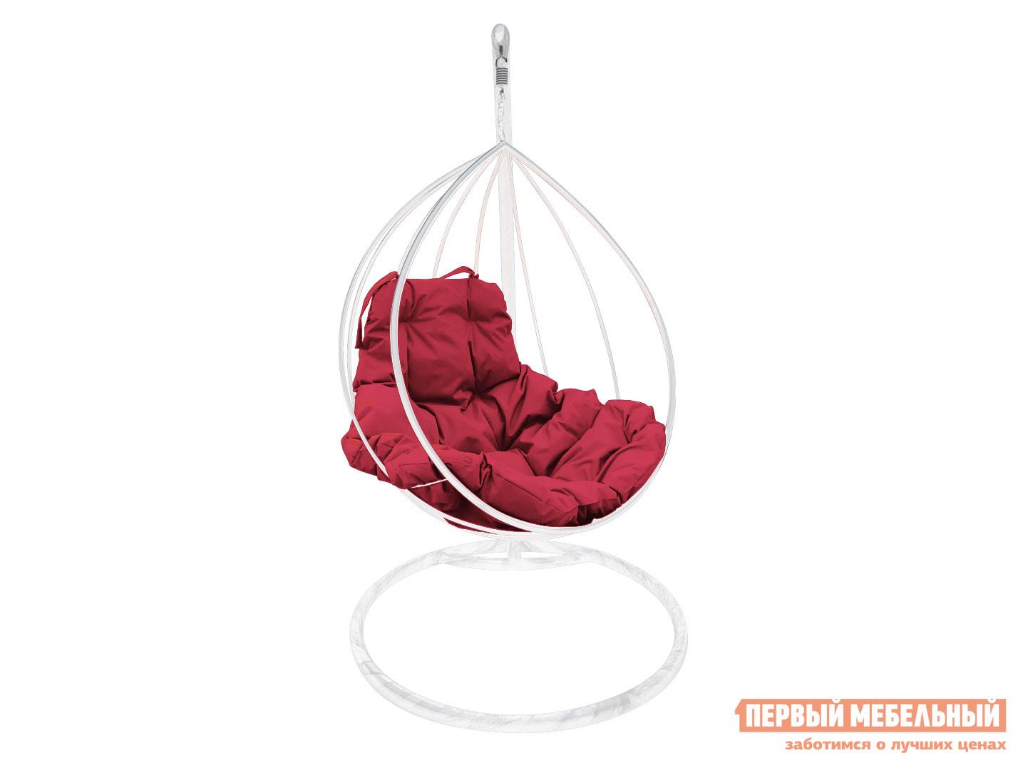 Подвесное кресло Кресло подвесное Дроп, металл Белый / Бордо фото