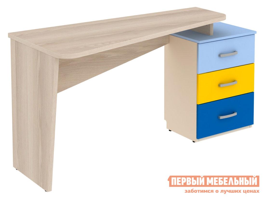Детский компьютерный стол Первый Мебельный Стол с тумбой справа Дарина АРТ. УС01