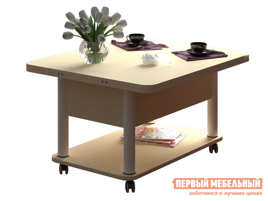 Кухонный стол  Стол-трансформер Гросс Венге светлый, Белый