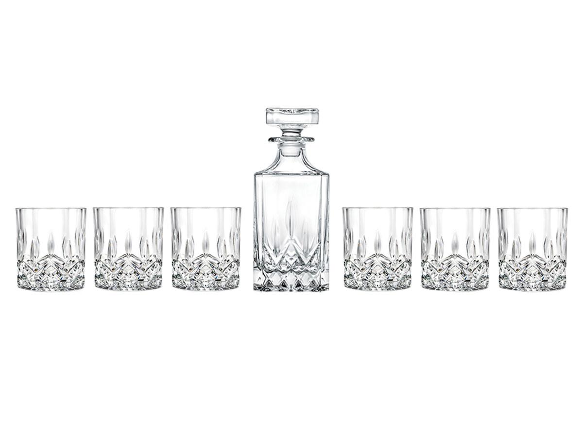 Набор для виски Первый Мебельный Набор для виски RCR Opera 7 предметов (Штоф 750мл Стаканы 210мл)