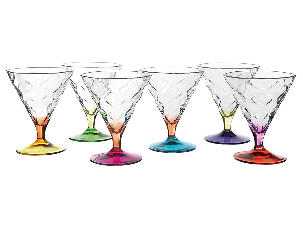 Набор бокалов Первый Мебельный Набор для мартини RCR Riflessi Bicolour цветные 300мл (6 шт) набор стаканов для виски rcr riflessi bicolour цветные 300 мл 6 шт