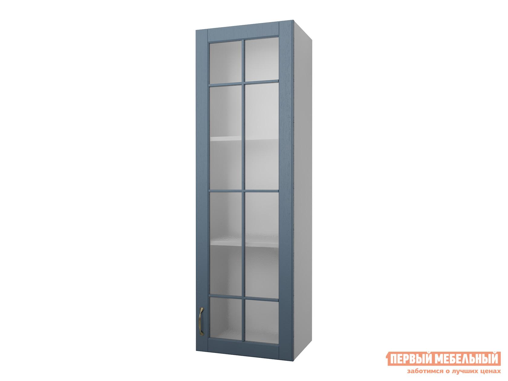 Кухонный модуль Первый Мебельный Полупенал навесной Н=130 см 1 дверь со стеклом 40 Палермо