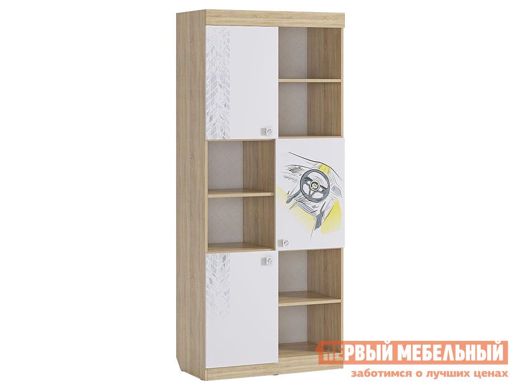 Стеллаж в детскую Первый Мебельный Стеллаж Форсаж MKF-03.1623 стеллаж в детскую первый мебельный стеллаж с ящиками палермо 3