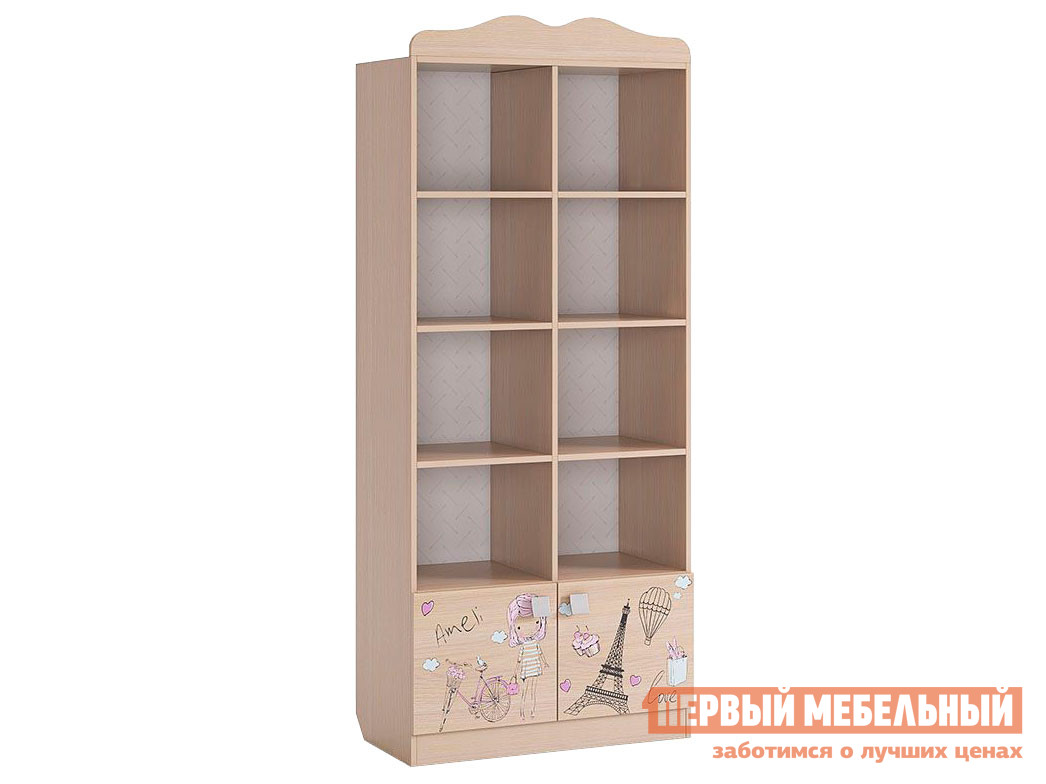 Стеллаж в детскую Первый Мебельный Амели Стеллаж стеллаж в детскую первый мебельный стеллаж с ящиками палермо 3