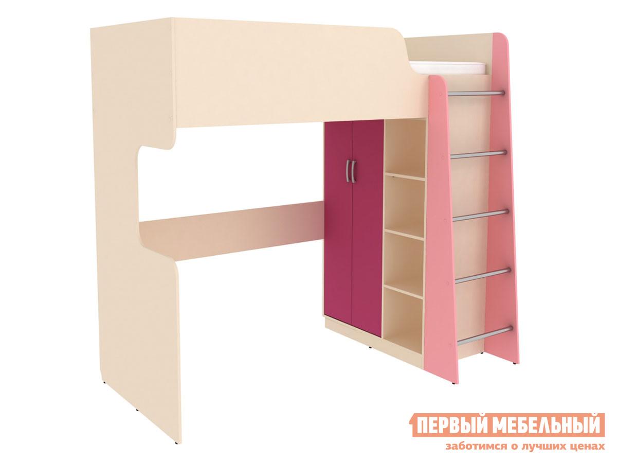 Кровать-чердак  Кровать двухъярусная Дарина АРТ.УК03 Песок / Розовый — Кровать двухъярусная Дарина АРТ.УК03 Песок / Розовый