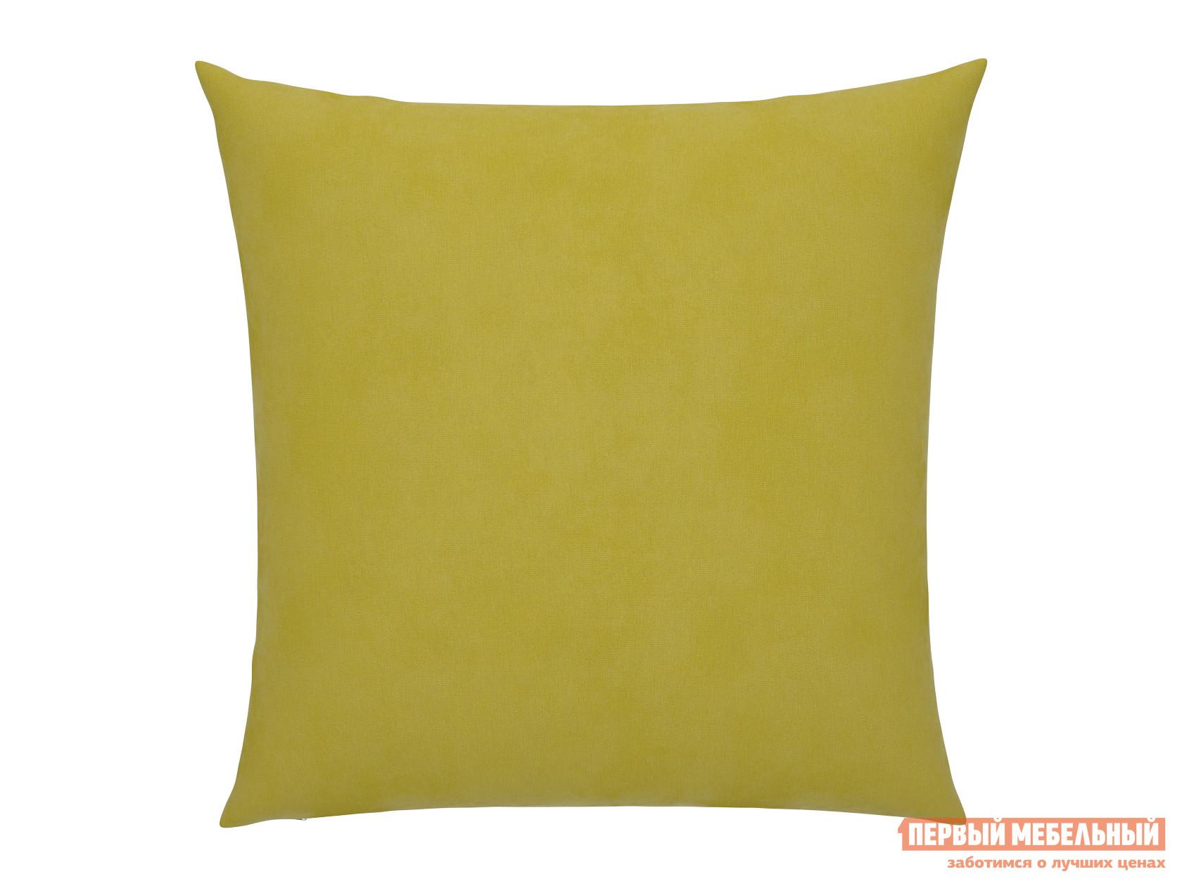 Аксессуар для дивана  Подушка для дивана 40х40  Желтый, велюр — Подушка для дивана 40х40  Желтый, велюр