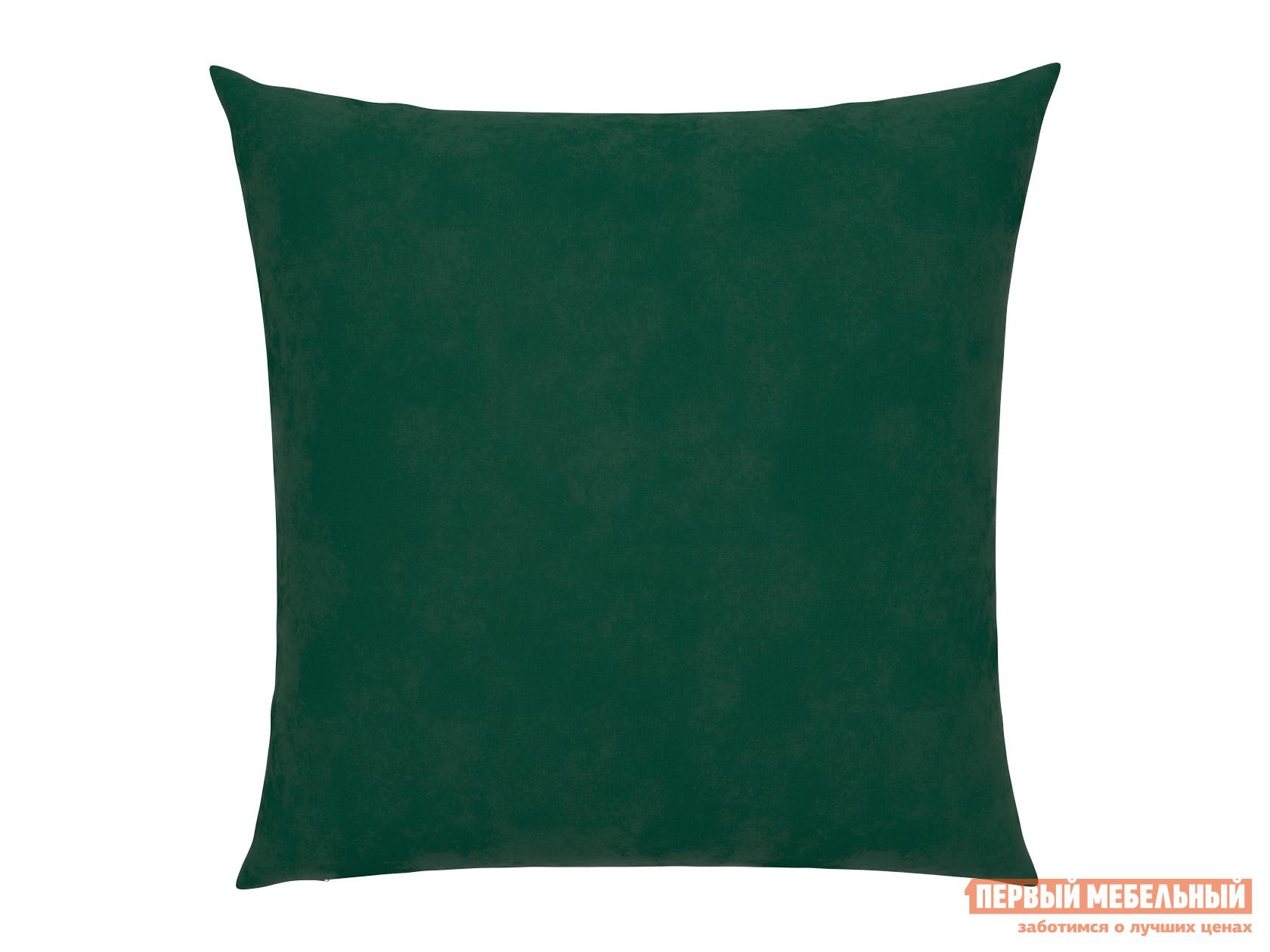 Аксессуар для дивана  Подушка для дивана 40х40  Изумрудный, велюр — Подушка для дивана 40х40  Изумрудный, велюр