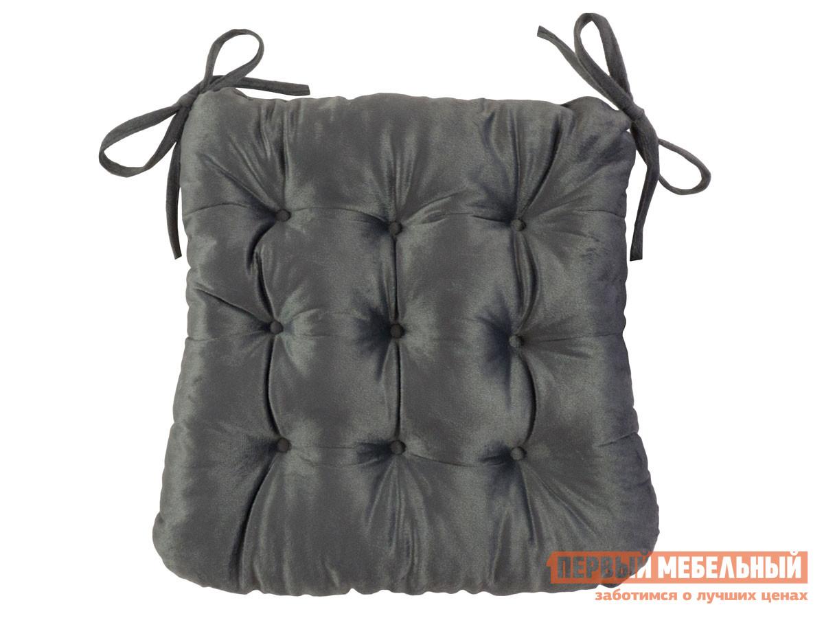 Фото - Подушка на стул Первый Мебельный Сидушка с завязками (серая LinenWay) чехол на стул италия с завязками ст ш 36х36 см