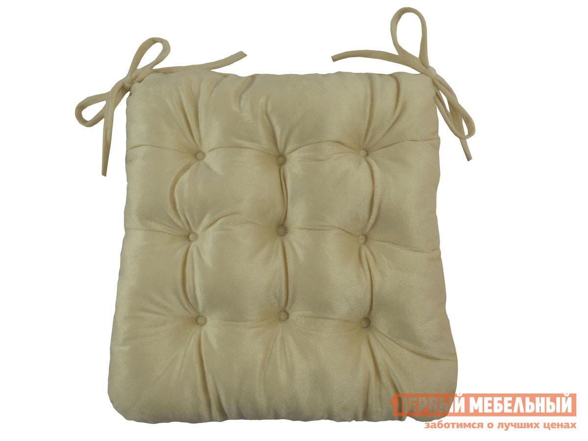 Фото - Подушка на стул Первый Мебельный Сидушка с завязками (кремовая LinenWay) чехол на стул италия с завязками ст ш 36х36 см
