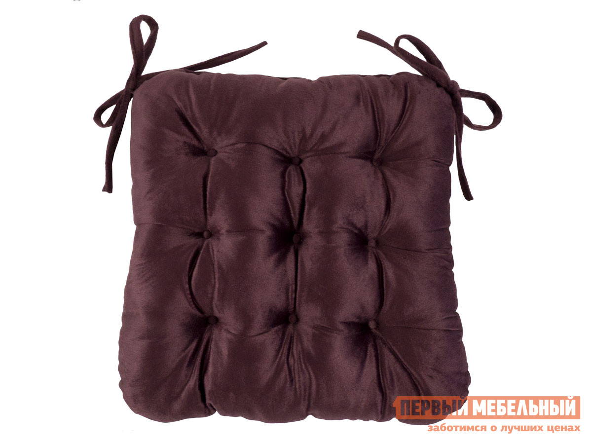 Фото - Подушка на стул Первый Мебельный Сидушка с завязками (бордовая LinenWay) чехол на стул италия с завязками ст ш 36х36 см