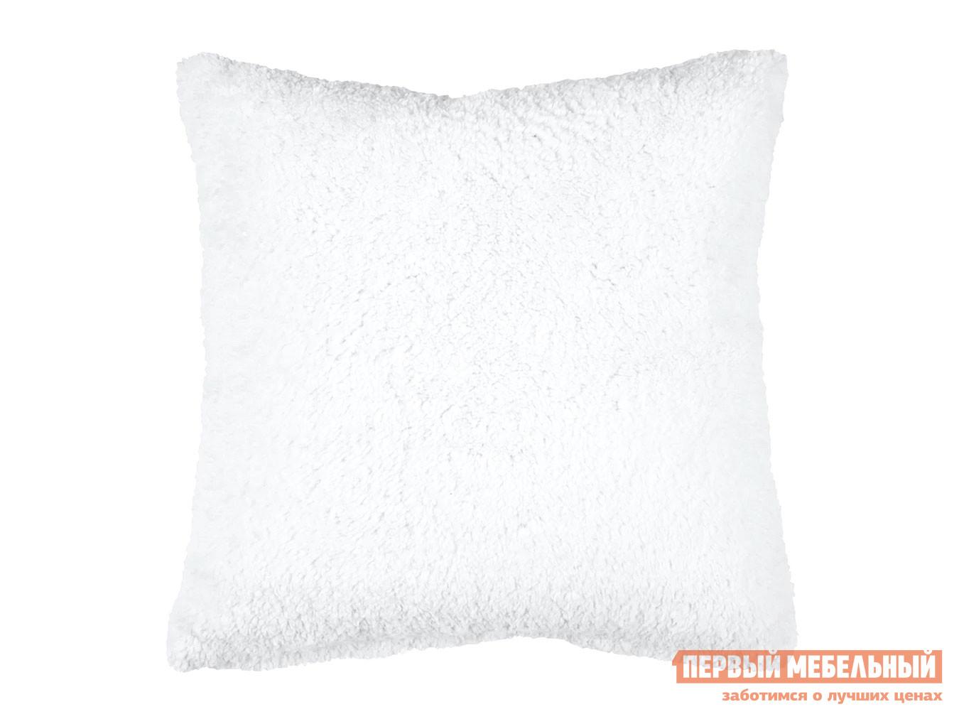 Декоративная подушка  Подушка 40х40 декоративная шерпа Белый — Подушка 40х40 декоративная шерпа Белый