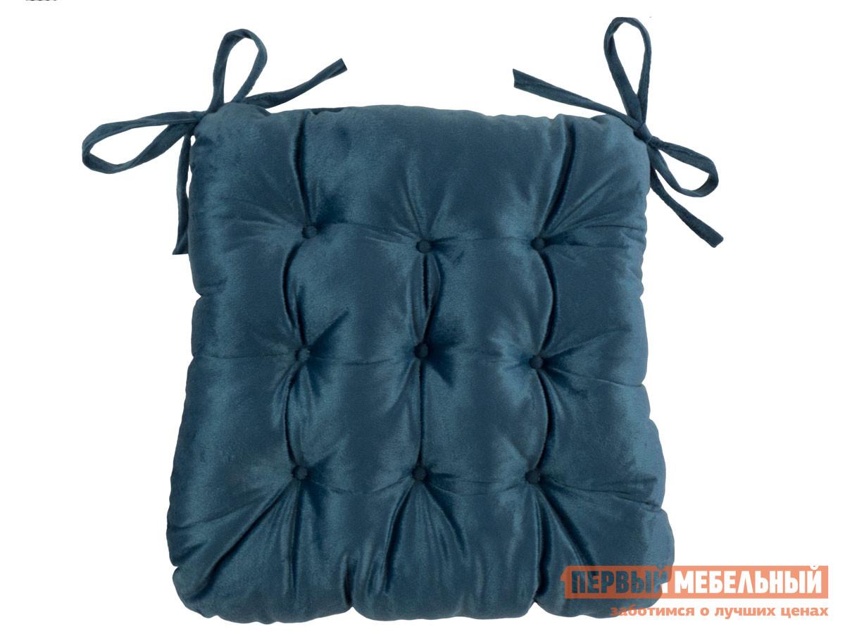 Фото - Подушка на стул Первый Мебельный Сидушка с завязками (синяя LinenWay) чехол на стул италия с завязками ст ш 36х36 см