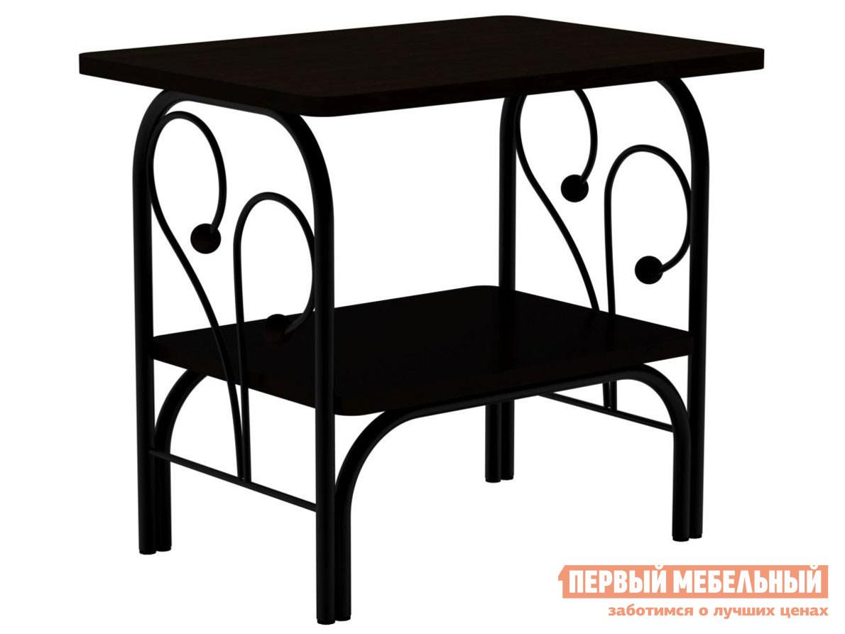 Прикроватная тумбочка  тумба Сандра Черный металл / Венге Форвард-мебель 87739