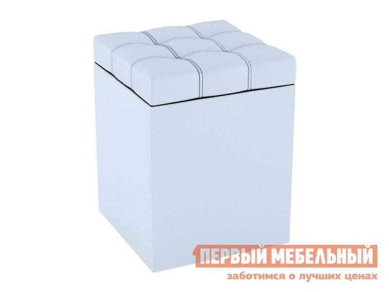 Пуфик  Пуфик Квадро Белый, экокожа