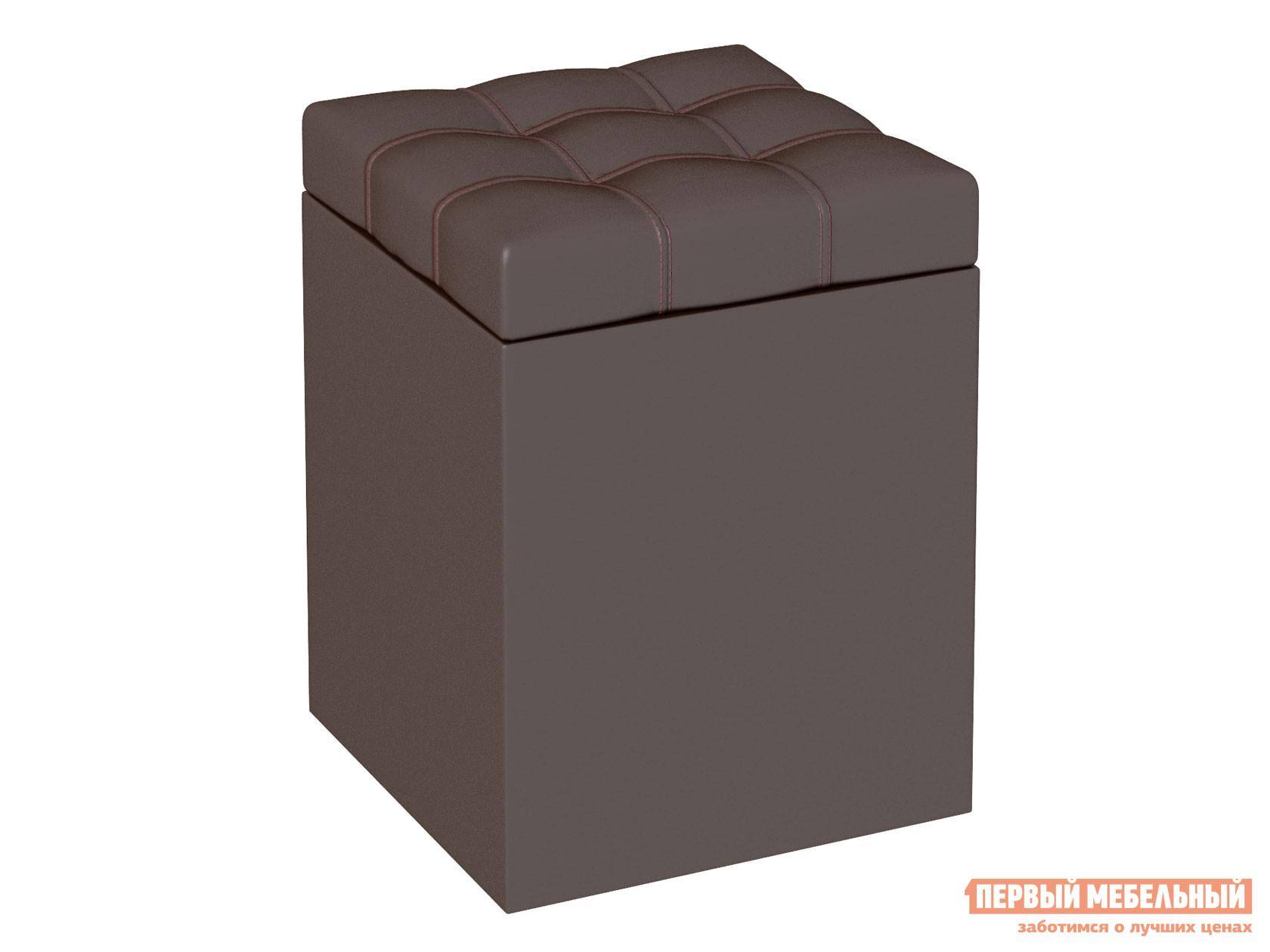Пуфик  Пуфик Квадро Шоколадный, кожзам — Пуфик Квадро Шоколадный, кожзам