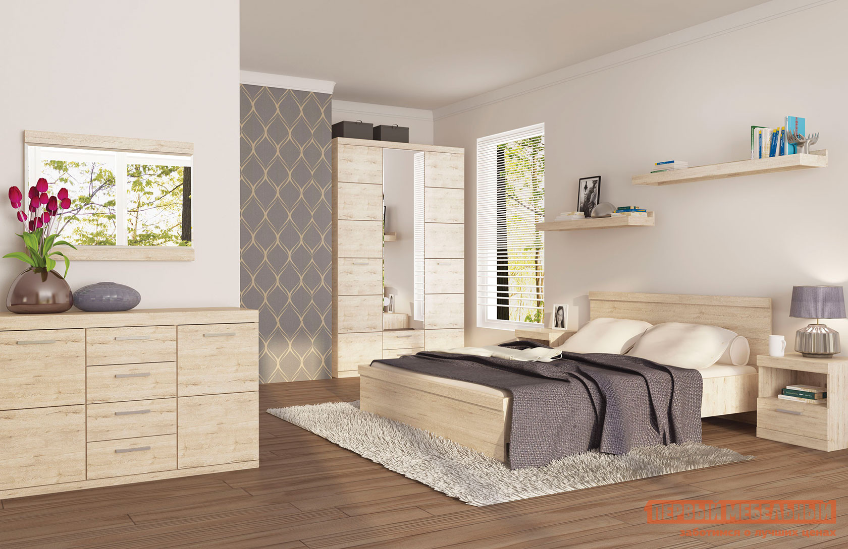 Спальный гарнитур Первый Мебельный Оскар С2