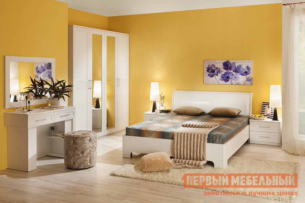 Спальный гарнитур Первый Мебельный Капри К1 спальный гарнитур трия саванна к1