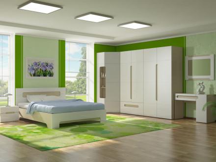 белая глянцевая спальня в москве и санкт петербурге купить спальный