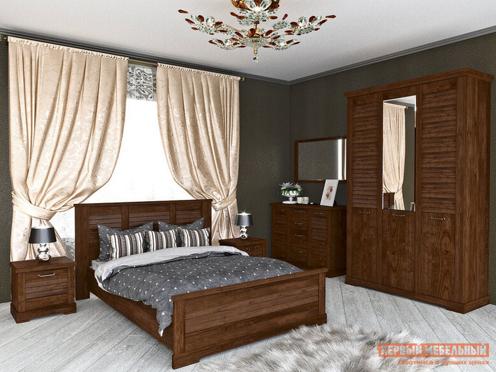 Спальный гарнитур Первый Мебельный Кантри С К2