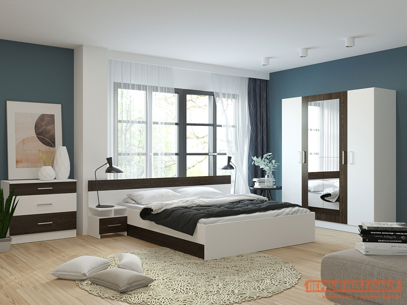 Спальный гарнитур Первый Мебельный Комплект мебели для спальни Леси спальный гарнитур нк мебель комплект мебели для спальни тиберия к2