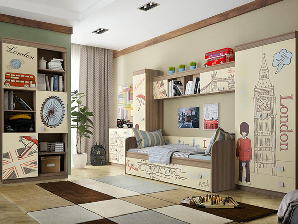 Комплект детской мебели  Челси К1 Ясень Шимо темный / Крем МебельСон 63247