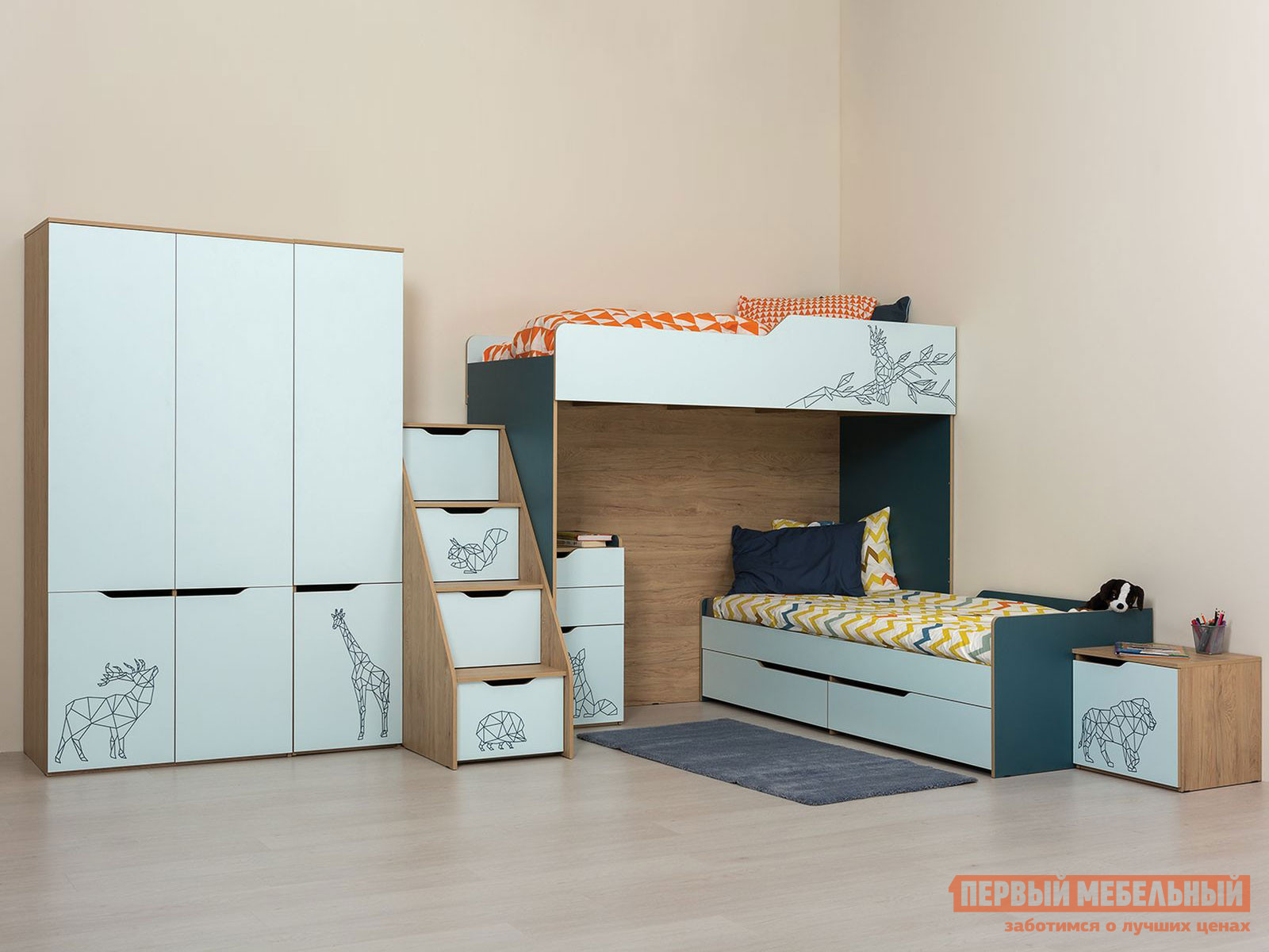 комплект детской мебели первый мебельный жили были k1 Комплект детской мебели Первый Мебельный Комплект детской мебели Гудвин К2