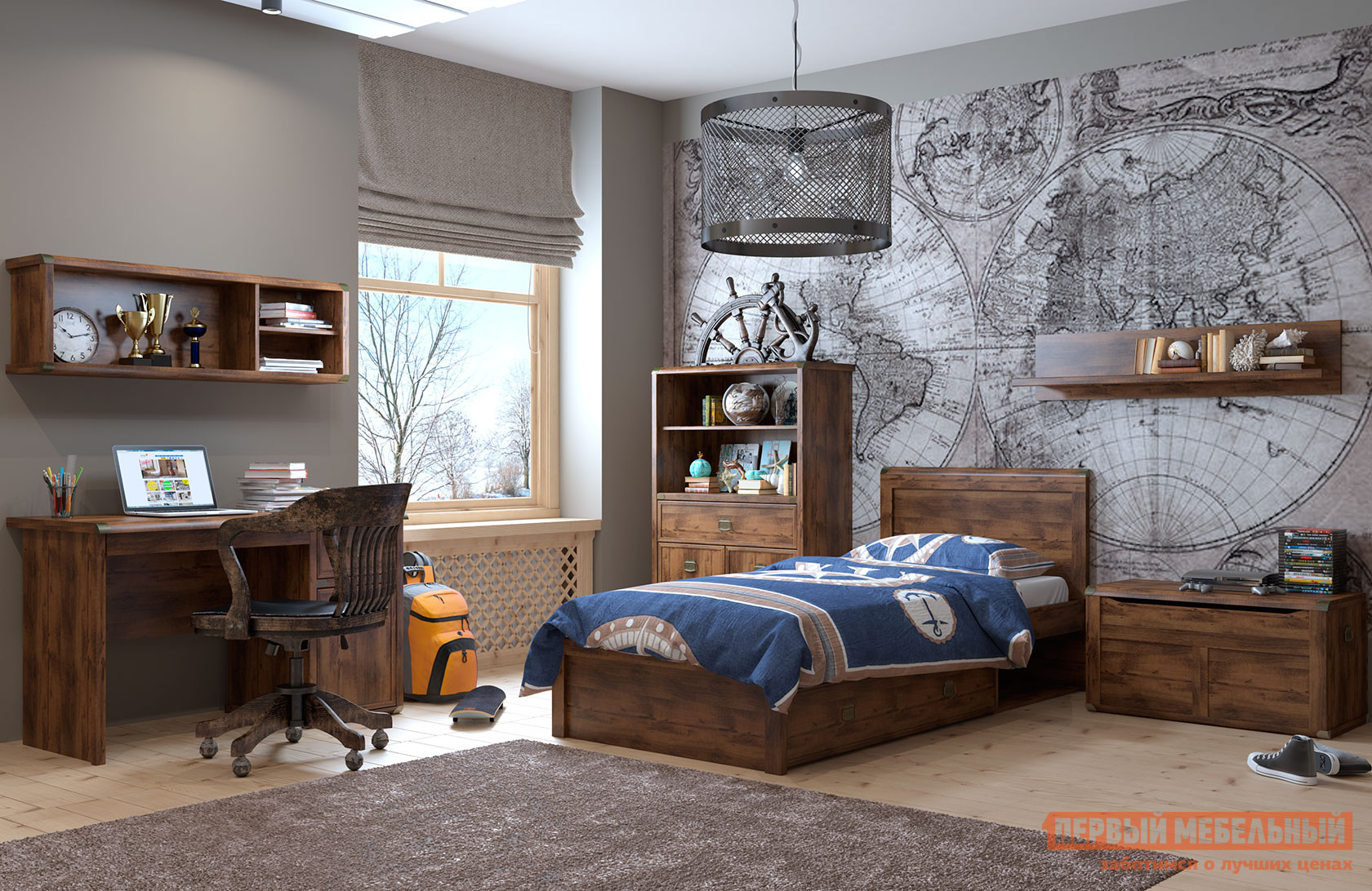 Комплект детской мебели Первый Мебельный Магеллан ДК2
