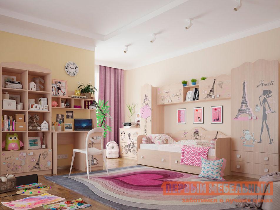 Комплект детской мебели  Амели К1 Дуб Млечный МебельСон 63253