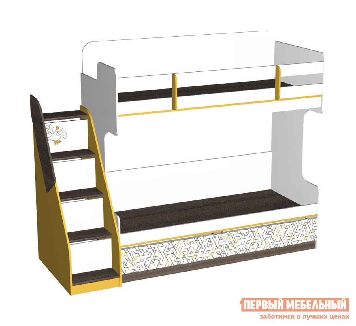 Кровать Первый Мебельный Кровать-чердак с лестницей Сафари