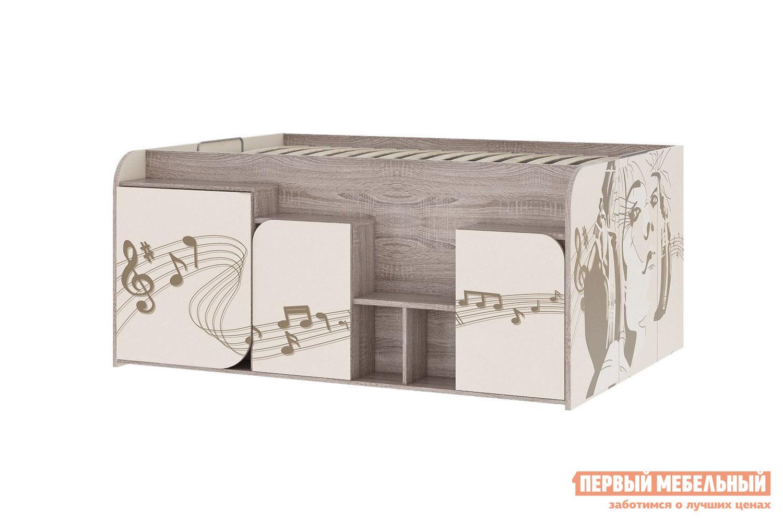 Кровать чердак  Кровать Бумбокс Дуб Сонома