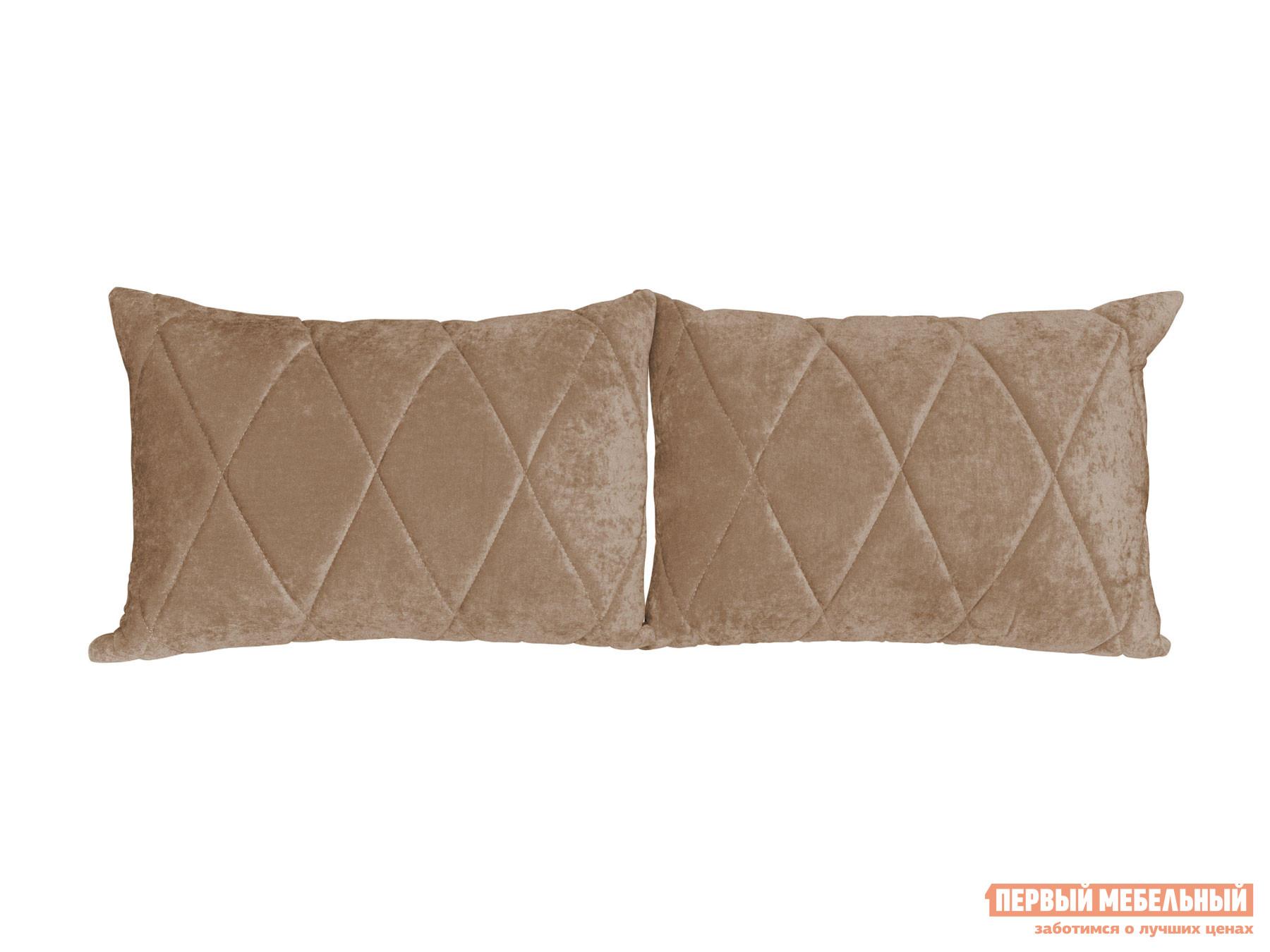 Аксессуар для дивана  Комплект подушек к дивану Роуз Песочный, велюр — Комплект подушек к дивану Роуз Песочный, велюр