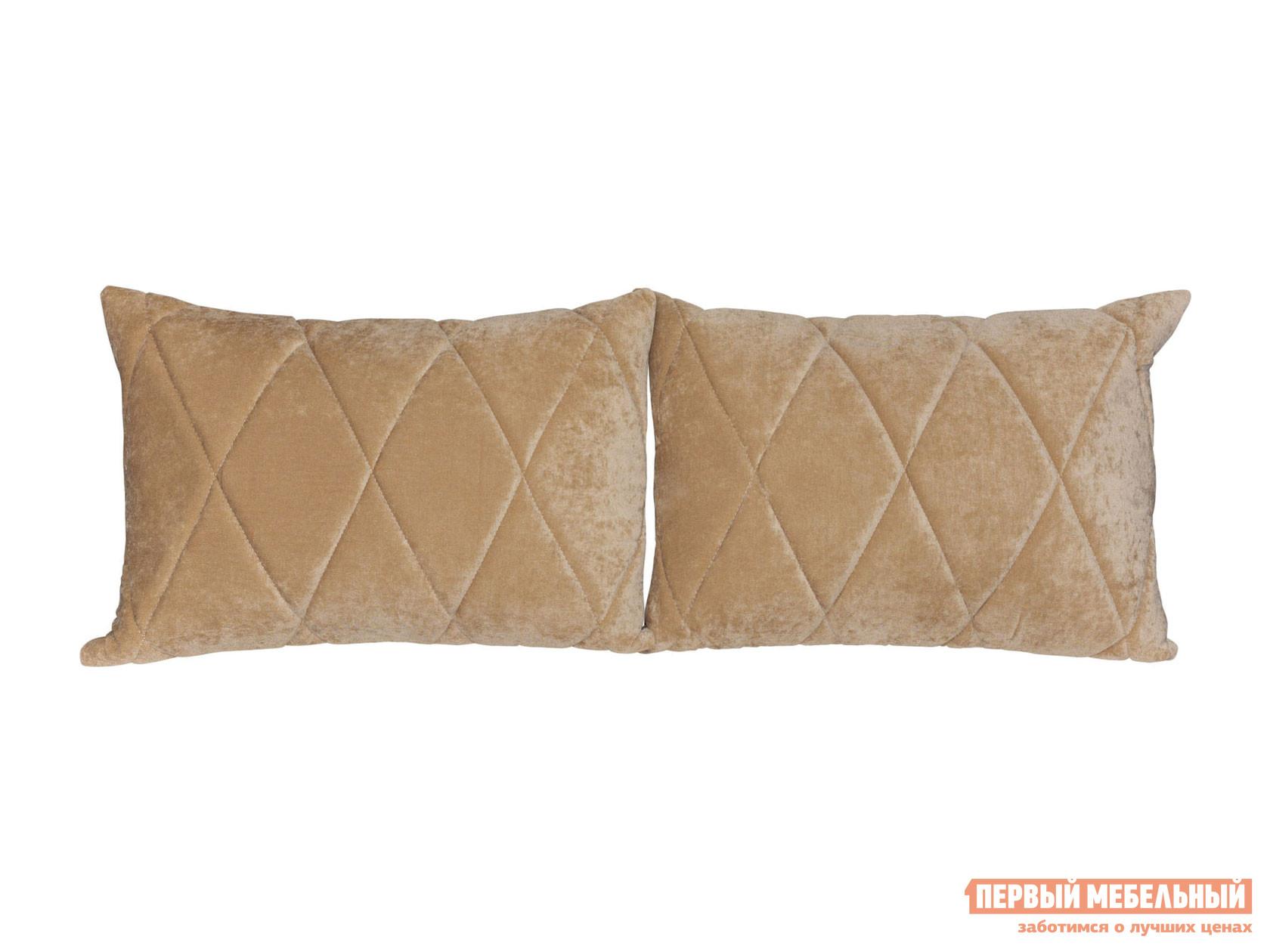 Аксессуар для дивана  Комплект подушек к дивану Роуз Бежевый, микровельвет — Комплект подушек к дивану Роуз Бежевый, микровельвет