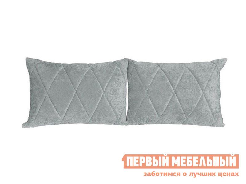 Аксессуар для дивана  Комплект подушек к дивану Роуз Серый, микровельвет — Комплект подушек к дивану Роуз Серый, микровельвет