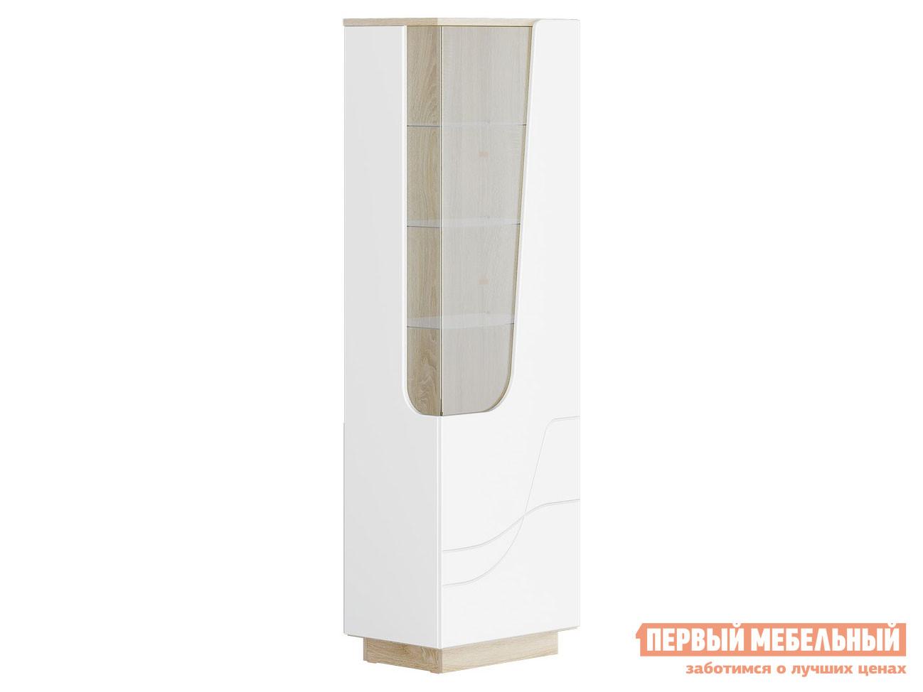 Шкаф-витрина Первый Мебельный Гостиная АУРА Пенал Д.600