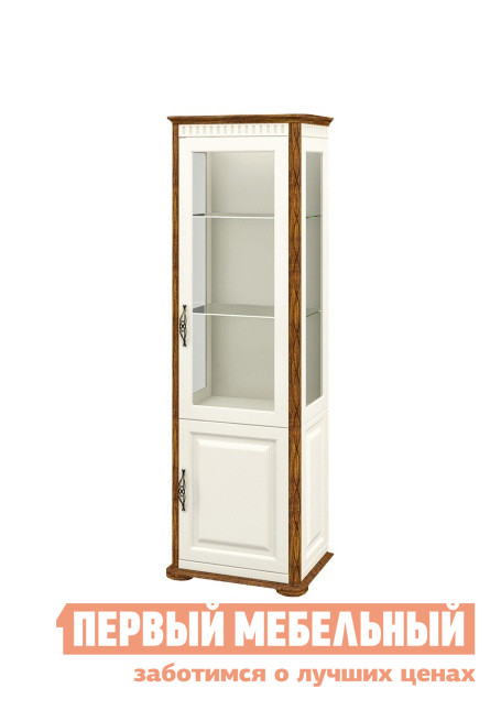 Шкаф-витрина Первый Мебельный Шкаф витрина Марсель две двери