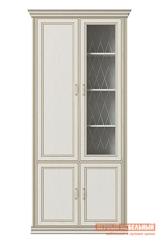 Шкаф-витрина  Шкаф 4-х дверный (1 стеклодверь) Венето Дуб молочный