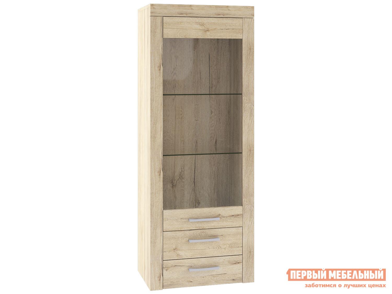 Шкаф-витрина Первый Мебельный Пенал-витрина низкий Оскар шкаф пенал первый мебельный пенал оскар 7 со штангой