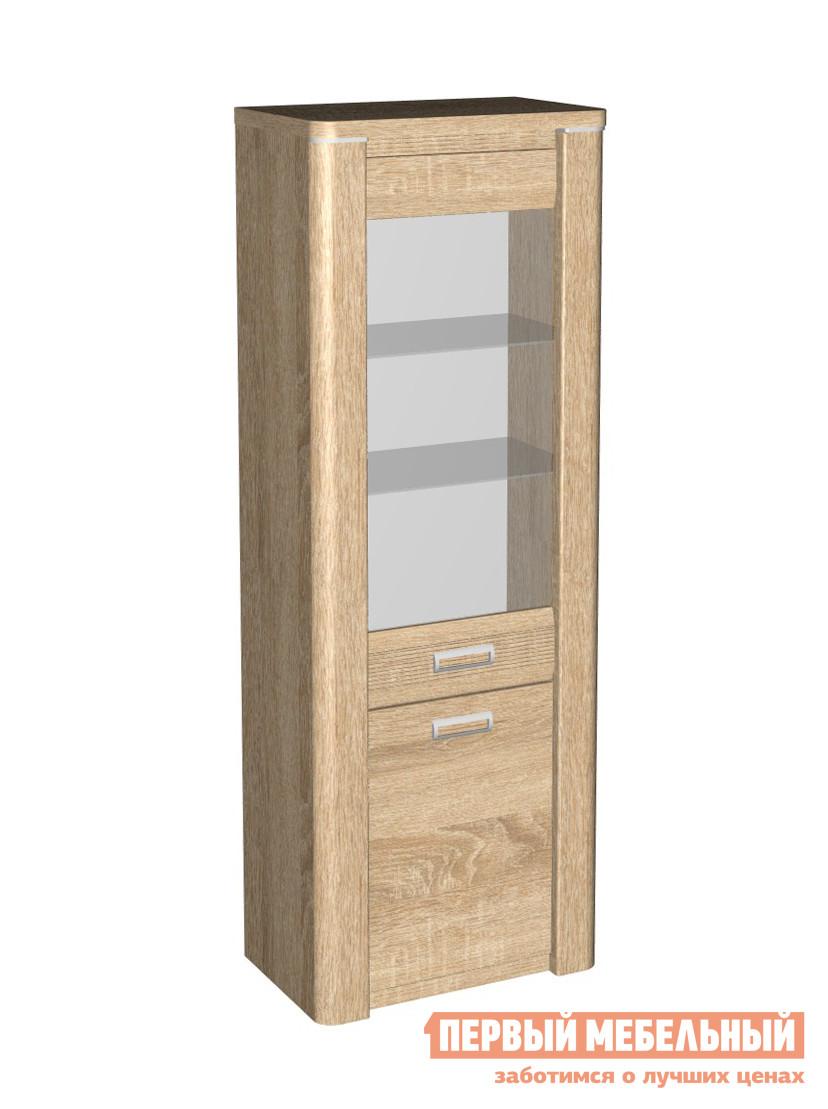 Шкаф-витрина Первый Мебельный Магнолия ГМ-3 пенал со стеклом высокий настенная полка первый мебельный магнолия гм 10 шкаф полка навесной