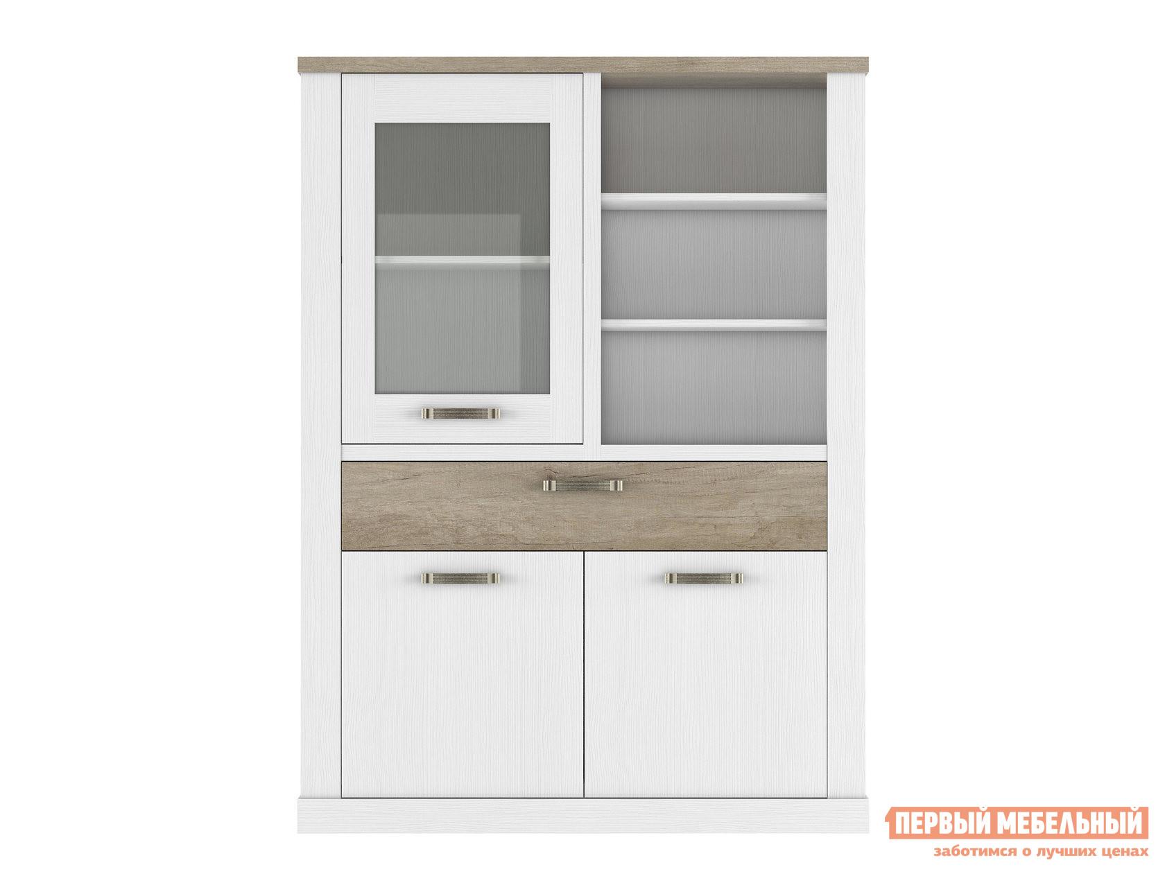Шкаф-витрина Первый Мебельный Шкаф-витрина низкий 2 Прованс цены онлайн