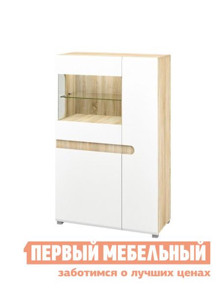 Шкаф-витрина Первый Мебельный Шкаф витрина низкий Леонардо