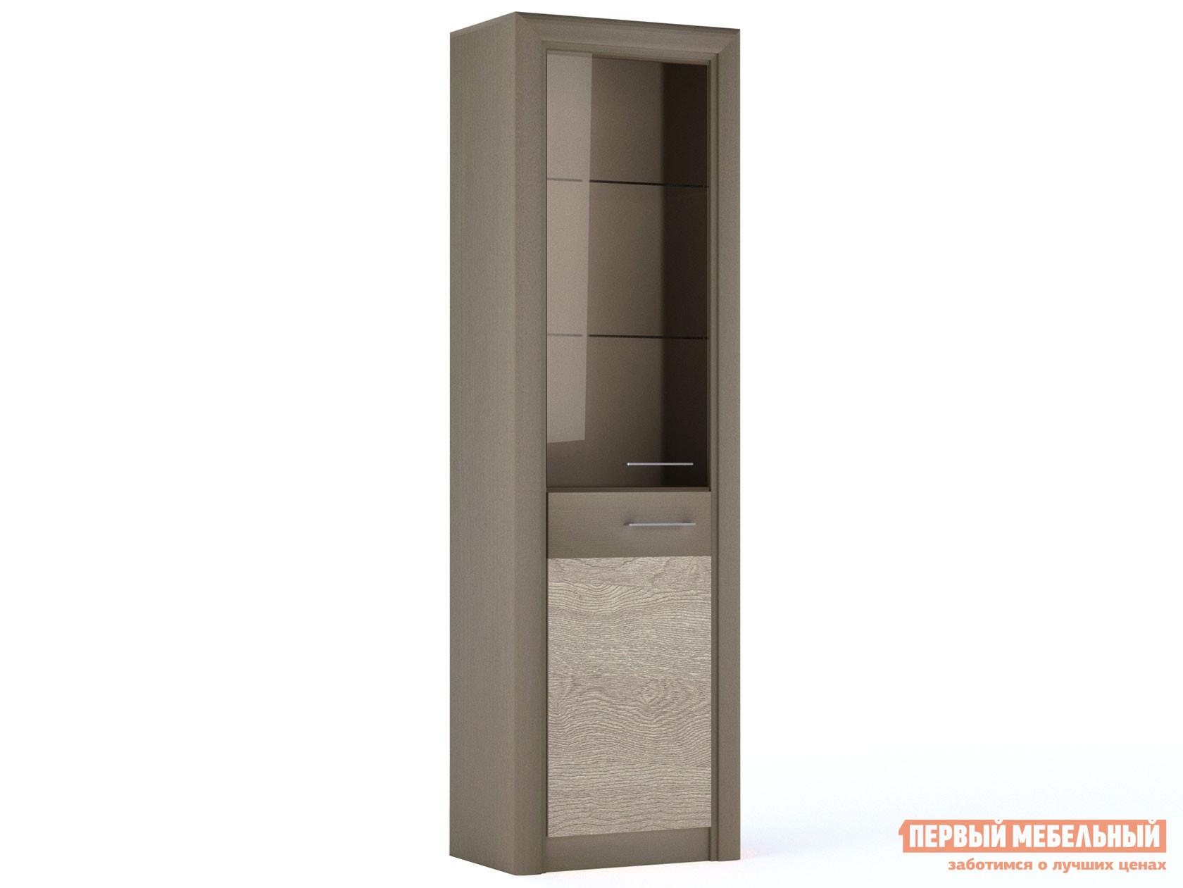 Шкаф-витрина Первый Мебельный Лацио Шкаф со стеклом